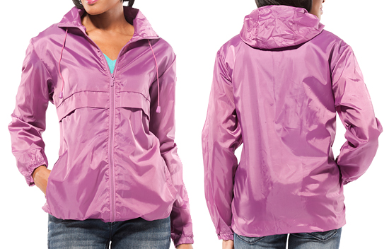 Women'S Packable Rain Jacket - Coat Nj