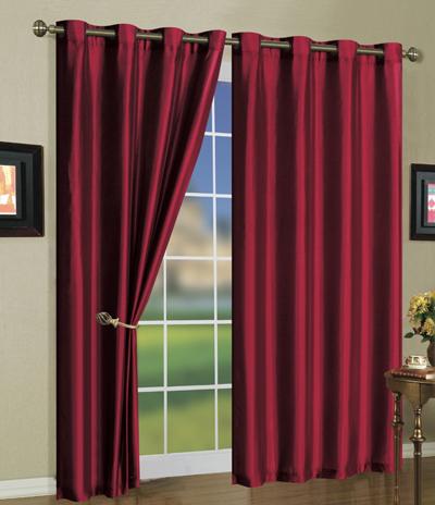 faux silk mira curtain panels