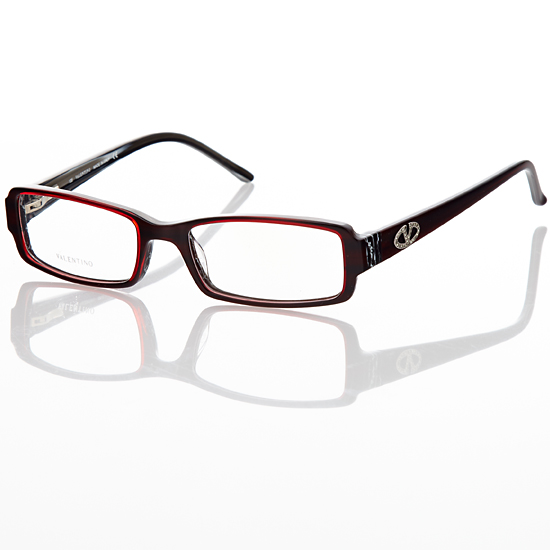 valentino womens eyeglasses plastic rectangleburgundy wine val5425u 17288 list price