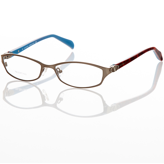 valentino womens eyeglasses metal plastic temple cat eyebrown azurelarge val5591 17288 list price
