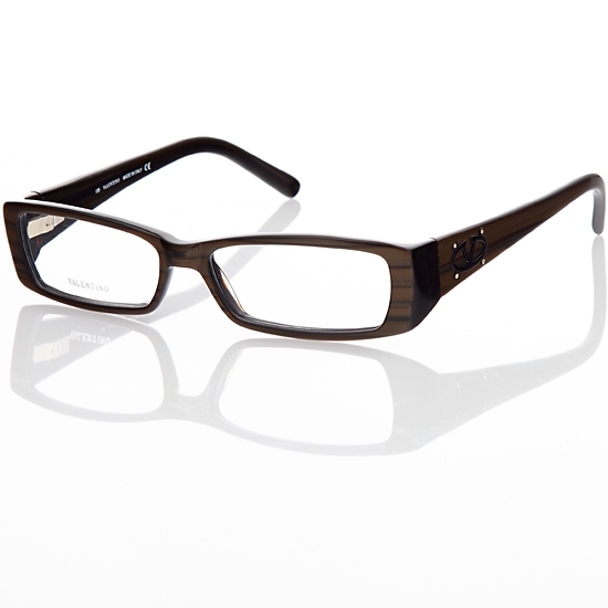 valentino womens eyeglasses plastic rectanglechocolate brown val5636 17289 list price - Womens Eyeglasses Frames