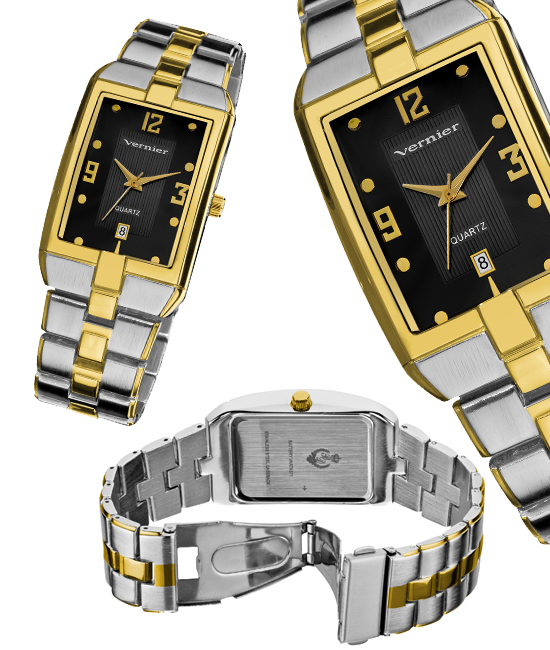 vernier men s or women s watches 20 for vernier men s bracelet watch two tone band black dial vnr11137bk 85 list price