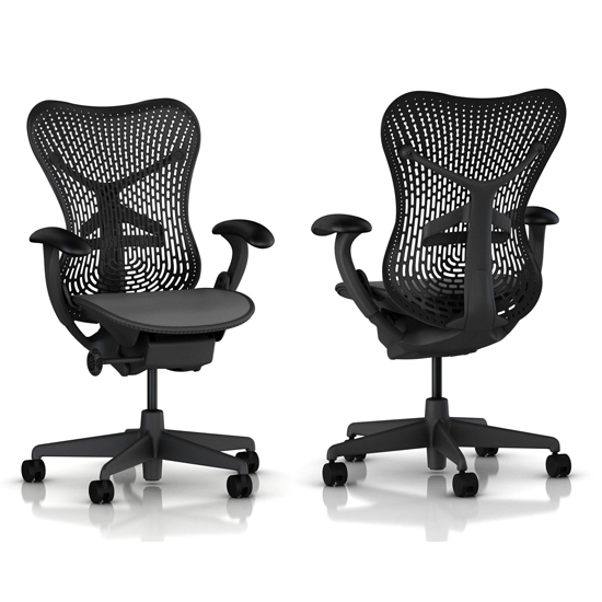 miller office chair. perfect office mirra basic chair in graphite with fixed nonadjustable arms and lumbar  support intended miller office