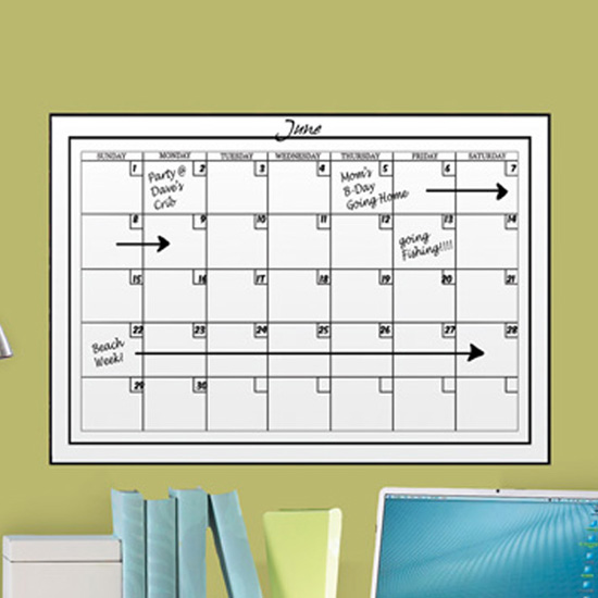Dry Erase Calendar Board : Wall pops dry erase boards and calendars