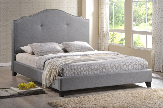 King Size Bed with Upholstered Headboard 550 x 366