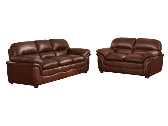 piece sofa set redding cognac brown leather modern sofa