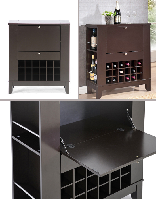 Baxton Studios Wine Carts and Cabinets