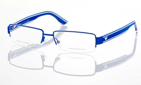 Armani Glasses Frames Blue : Emporio Armani Unisex Eyewear
