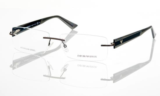 emporio armani unisex eyeglasses rimless frame ea 9655 p08 21250 list price - Emporio Armani Frames