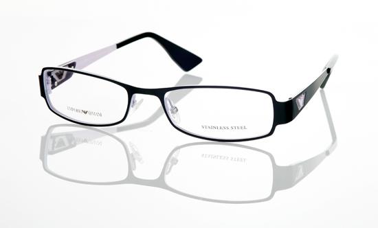 emporio armani unisex eyeglasses black metal frame ea 9670 utt 21250 list price