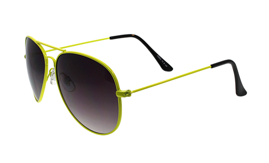 fantas eyes unisex aviator sunglasses yellow framegray gradient lens femoonbeam yw