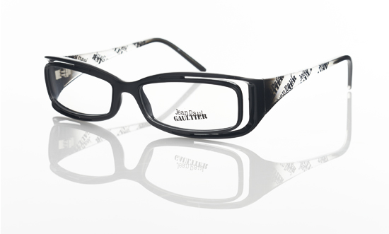 Glasses Frame Black And White : Jean Paul Gaultier Eyeglasses