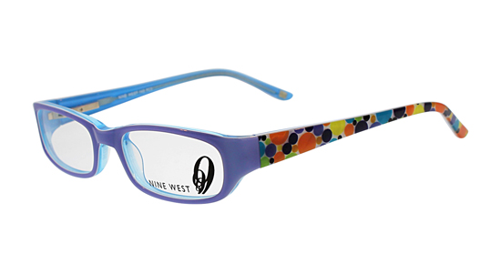 nine west kids optical frames blue