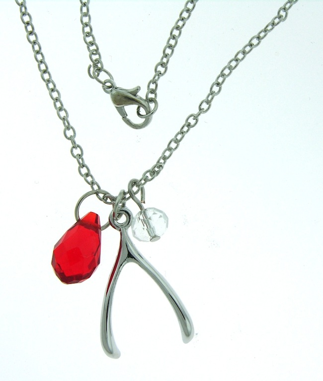 Wishbone Necklace And Earring Set
