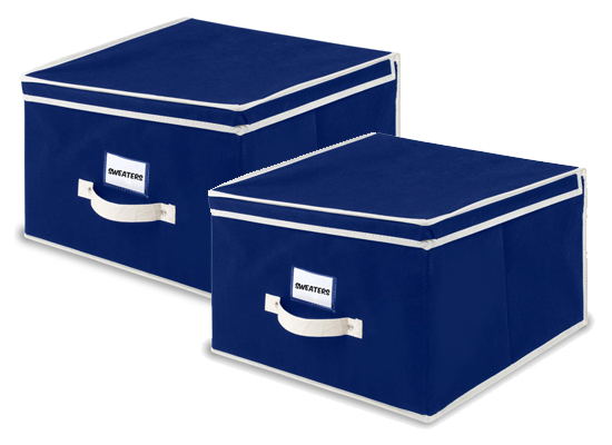 Medium Storage Boxes In Night Blue