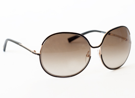 alexandra womens sunglasses with rose gold frames shiny black rims and gradient brown lenses ft0118 01f 425 list price