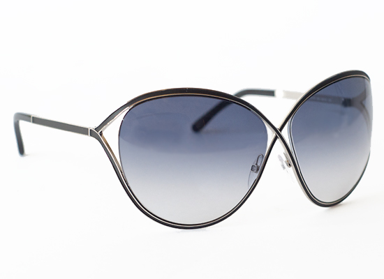 tom ford sunglasses rrve  Sienna Women's Sunglasses with Silver Frames, Black Details, and Gray  Lenses FT0178-01B $450 List Price