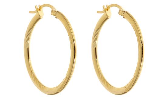 18 Karat Gold Plated Hoop Earrings