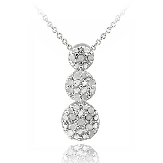 Diamond accent pendant necklace 1999 for sterling silver 15ct diamond past present future necklace pds2115 20 6999 list price aloadofball Gallery