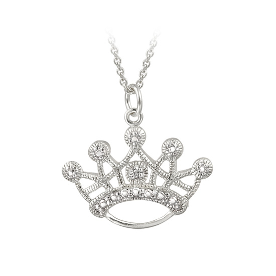 Diamond accent pendant necklace 1999 for sterling silver diamond accent designer crown necklace ppd3053 18 4999 list price aloadofball Choice Image