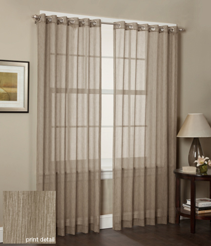 Blackout Curtains tan blackout curtains : Set of Two Window Curtains