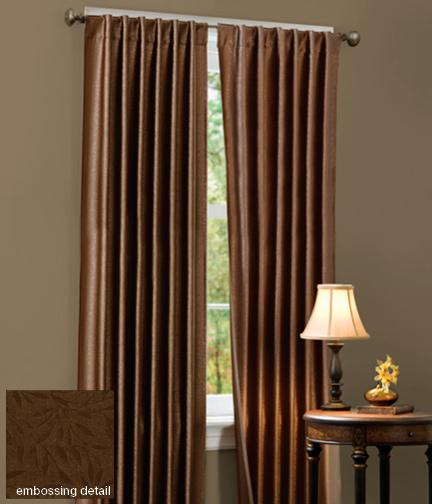 Curtains Ideas kids room darkening curtains : Alana Leaf Room-Darkening Curtain in Chocolate