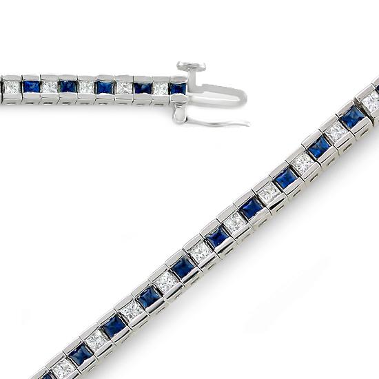 14k White Gold Diamond Tennis Bracelets Specifications