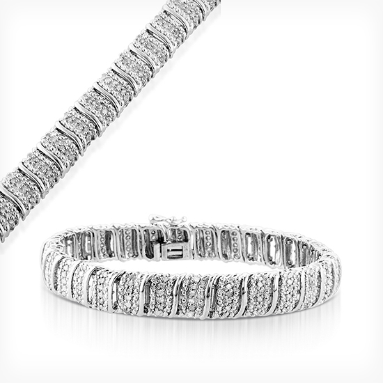 bangles bracelet waves s women sterling w and silver effy diamond bangle jewelry bracelets