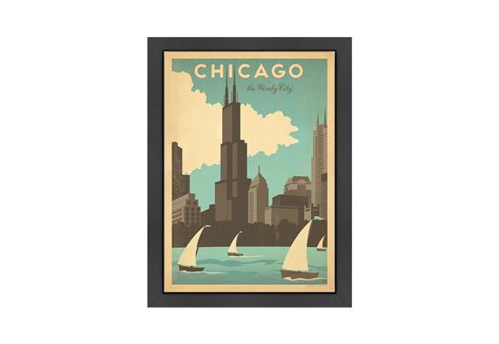 Framed Vintage-Style Travel Posters