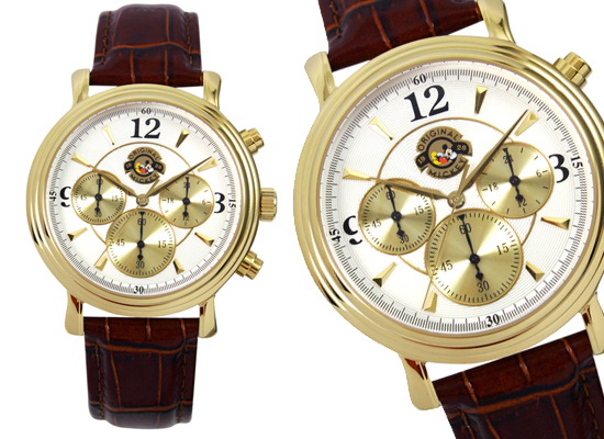 disney watches men s versailles chronograph mickey mouse watch in brown