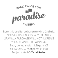 Pack Twice for Paradise Sweepstakes Rules