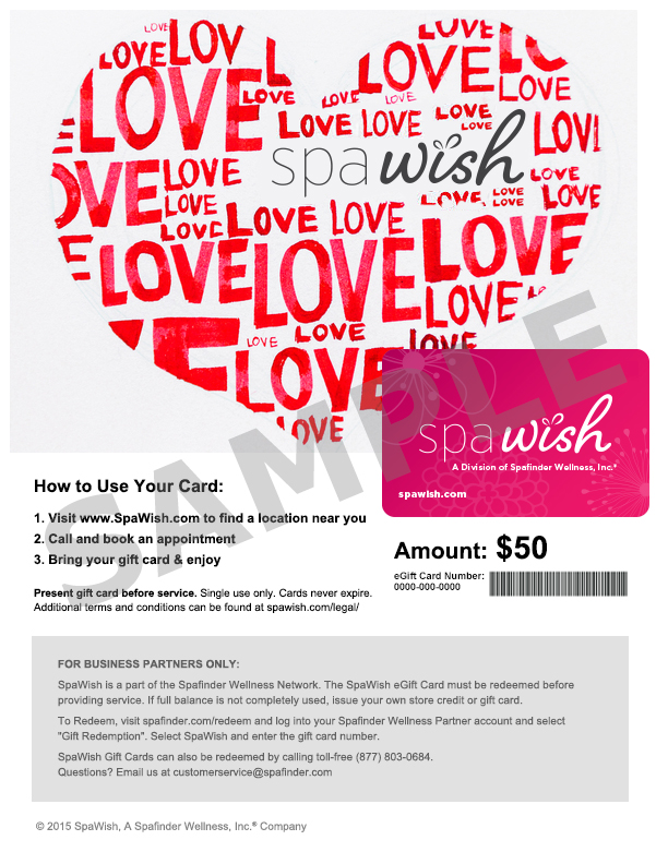 Gift Cards for Disney World Spa Visits $35 for $50 Certificate ...