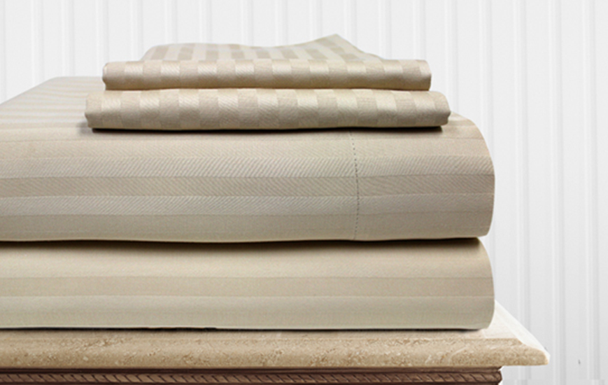 400 Thread Count Egyptian Cotton Stripe Sheet Set Bed