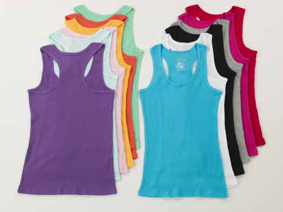 70f8348ff1f8b1 12-Pack of Women s Racerback of Muscle Assorted Cotton Tank Tops