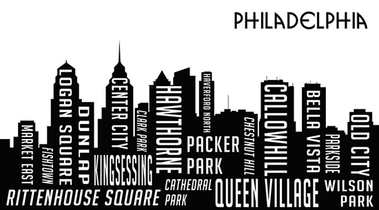 Picture It On Canvas Word Skyline Prints