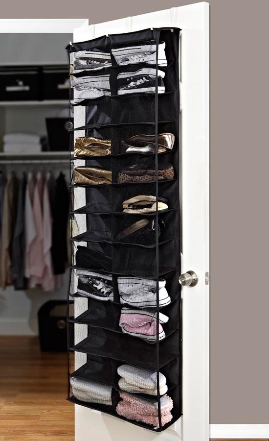 Back Of Door Black Shoe Rack