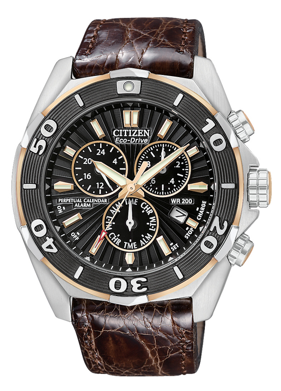 8bf15a07d $539.99 for Citizen Men's Eco-Drive Signature Collection Watch: Brown Leather  Strap Band/Black Dial/Silver Bezel ($975 List Price)