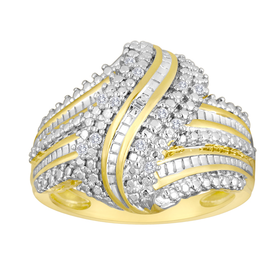 Yellow Gold Rings with Diamond Accents