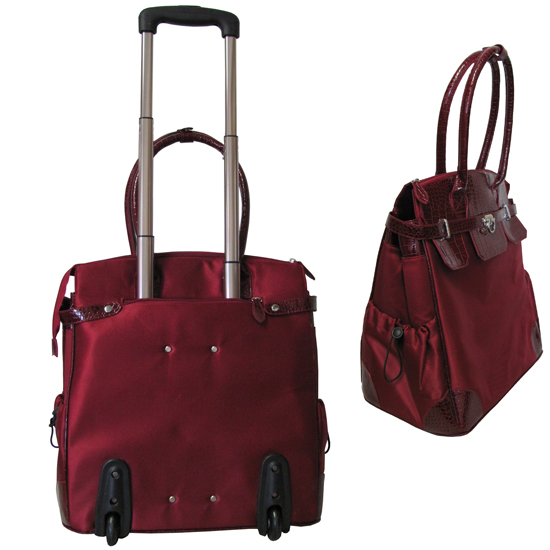 Amerileather Deluxe Skylar Women S 17 Quot Rolling Tote With