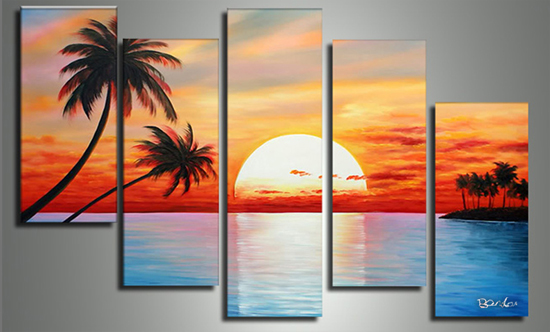 Fabuart Com 1 3 4 Or 5 Panel Hand Painted Textured