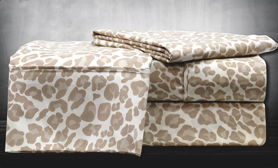 Hotel Collection Animal Print Sheets