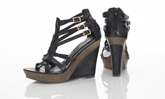 Bucco Vegan Leather Wedge Sandals