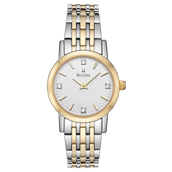 008654a1f Bulova Women's Watches. $89.99 for Two-Tone Diamond Bracelet Watch/White  Dial (98P115) ($250 List Price)