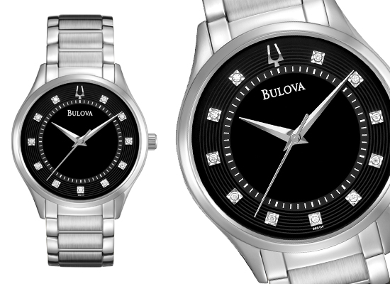 Bulova Mens Watch Diamond Bezel