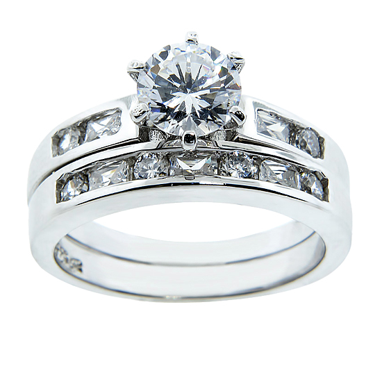 a wedding ring sterling silver and cz wedding ring sets 1204