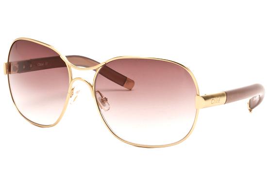 58b60259819 Chloe Women s Sunglasses  Gold Metal Frame Plum Gradient Lens  (CL2208-C03-62-17-130F) ( 355 List Price)