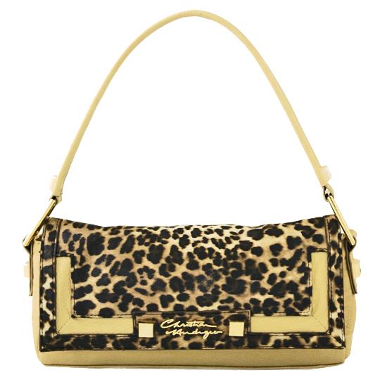 7cd3528e47a8 Tea Shoulder Bag in Black Brown Leopard