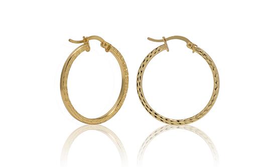 14 Karat Gold Plated Hoop Earrings