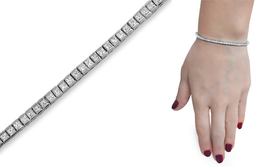 625c76c4e89 14-Karat White-Gold Diamond Tennis Line Bracelets