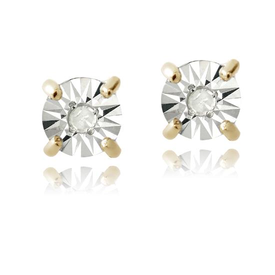 Diamond Earrings with Illusion Setting